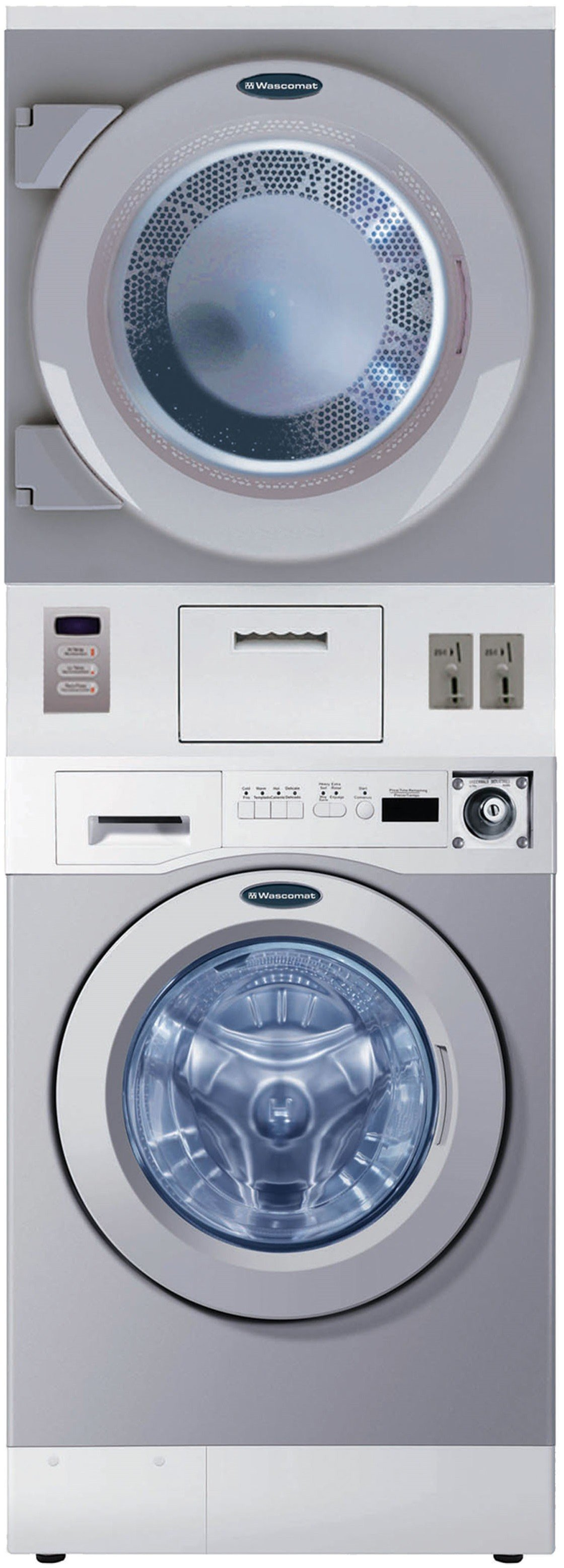 Wascomat Crossover 27 Inch Stacked Electric Laundry Center