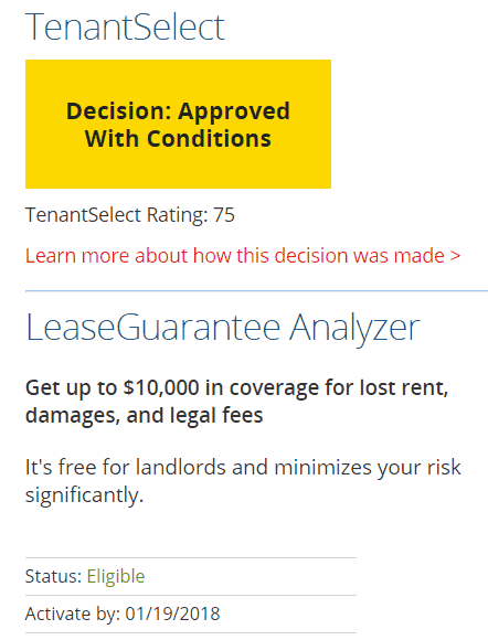 Leasing Recommendation and Guarentee
