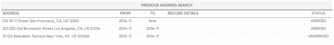 previous address search