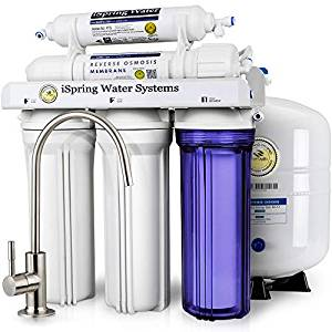 iSpring RCC7 High Capacity Under Sink 5-Stage Reverse Osmosis Drinking Filtration System and Ultimate Water Softener